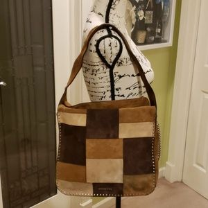 bb9957d196d362 Michael Kors · EUC Michael Kors patchwork suede astor hobo bag